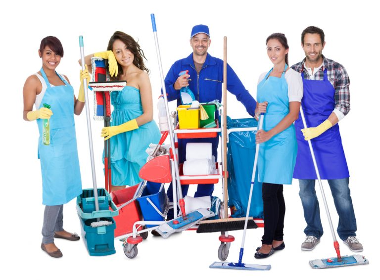 professional cleaning service employee