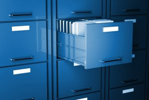 cleaning office file cabinet