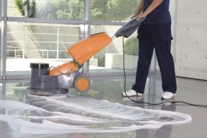 Cleaning service for sealed floors